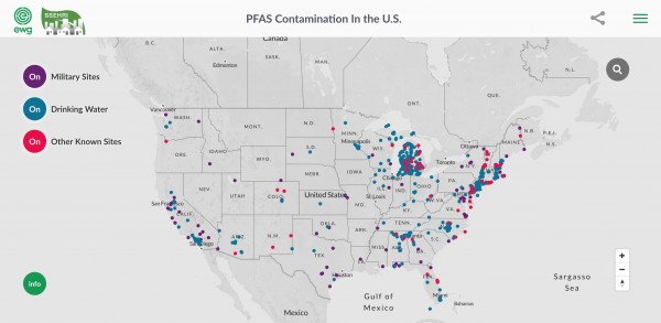 EWG - PFAS Contamination Across Nation
