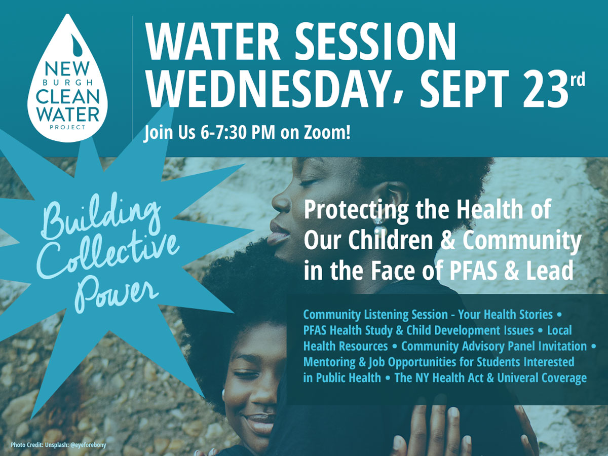 NCWP Water Session: Sept 23, 2020 - Protecting Our Children & Community in the Face of Lead & PFAS