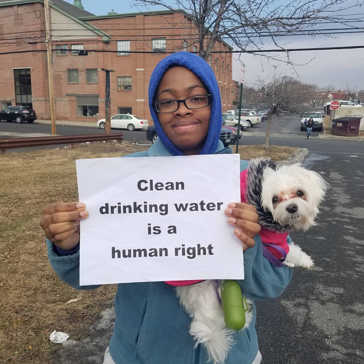 Newburgh Clean Water Project - Clean Drinking Water is a Human Right — Photo by Lauren Berg